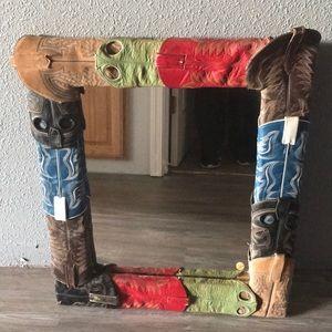 Cowboy boot tops mirror